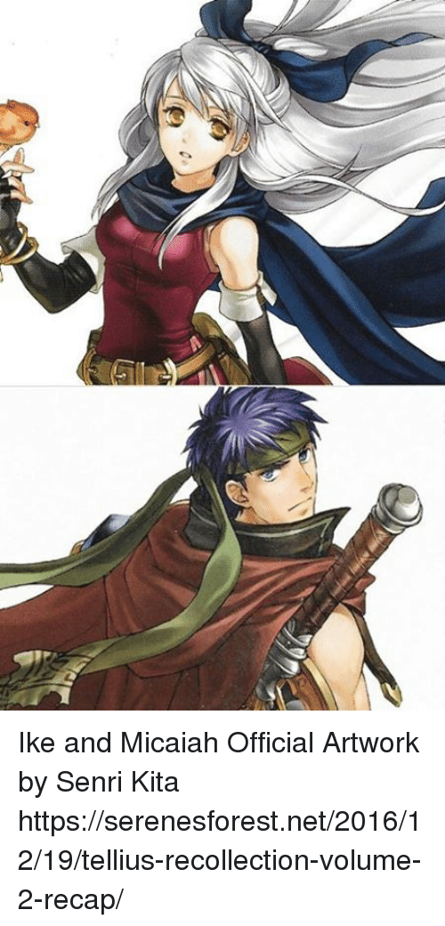Ike And Micaiah Official Artwork By Senri Kita