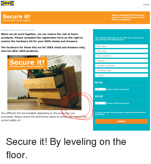 Funny Ikea And Work Secure It Creating Safer Homes Together Important