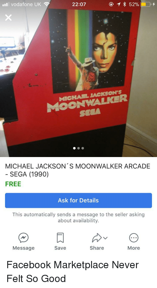 Il Vodafone UK 2207 MOONWALKER SEGA MİChAEL JACKSON'S