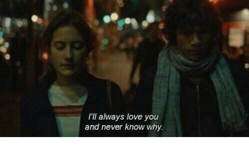 Love, Never, and Why: I'll always love you  and never know why