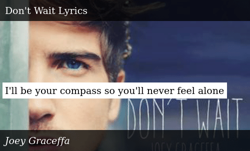 I'll Be Your Compass So You'll Never Feel Alone | Donald