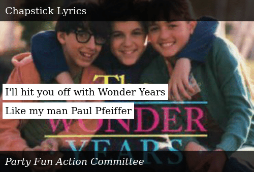 I'll Hit You Off With Wonder Years Like My Man Paul Pfeiffer
