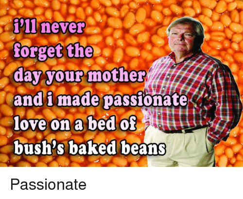 I Ll Never Forget The Day Your Mother And I Made Passionate Love