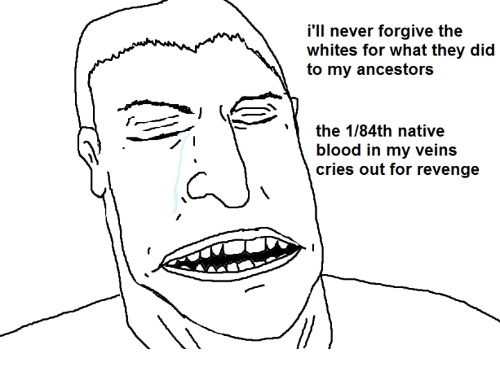 Bloods, Crying, and Revenge: i'll never forgive the  whites for what they did  to my ancestors  the 1184th native  blood in my veins  cries out for revenge