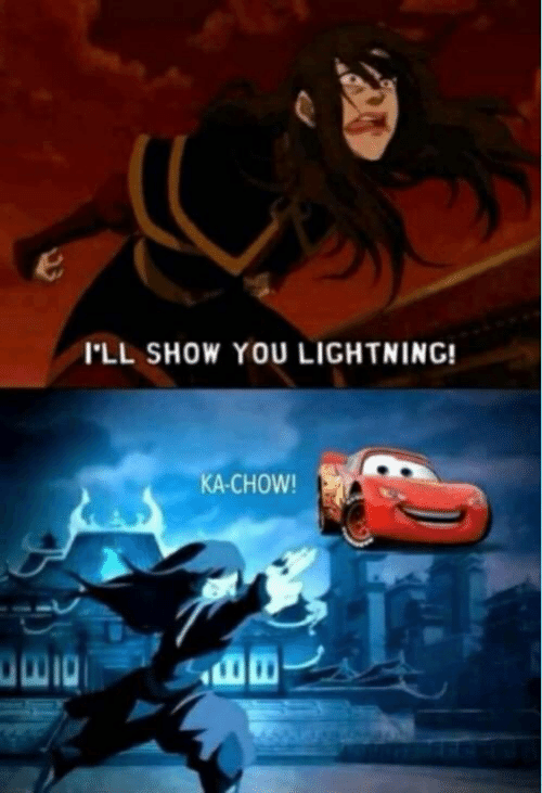 Lightning, You, and Show: I'LL SHOW YOU LIGHTNING!  KA-CHOW!