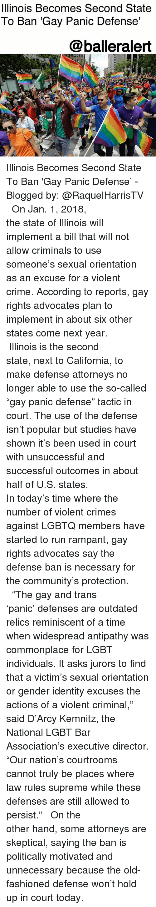 from Jamison defeating the gay panic defense