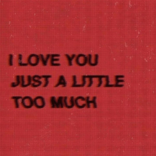 Too Much, You, and Just: ILOVE YOU  JUST A LUTTLE  TOO MUCH