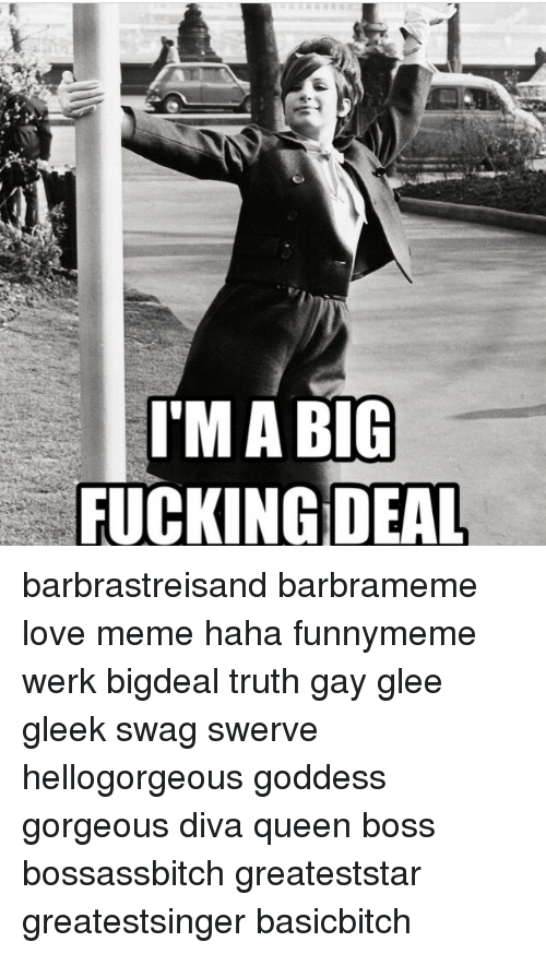 This Is Big F Ing Deal >> I M A Big Fucking Deal Barbrastreisand Barbrameme Love Meme