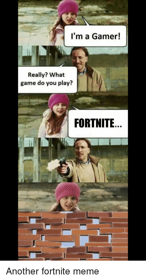 I M A Gamer Really What Game Do You Play Fortnite Meme On Me Me