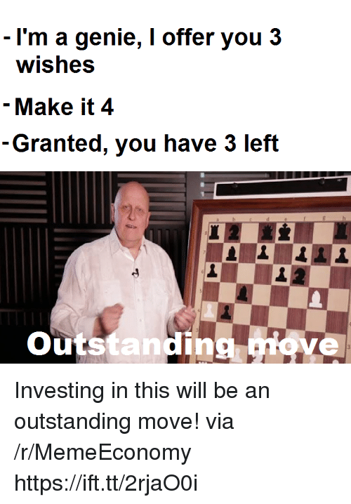 Genie, Via, and Investing: I'm a genie, I offer you 3  wishes  - Make it 4  Granted, you have 3 left  utstanding Investing in this will be an outstanding move! via /r/MemeEconomy https://ift.tt/2rjaO0i