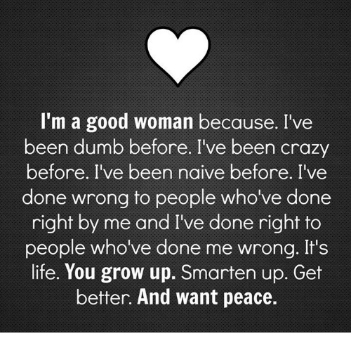I Want To Be A Good Woman