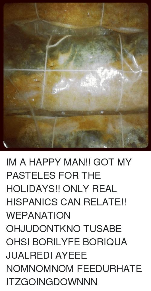 im a happy man got my pasteles for the holidays 6848415 memes meme im a happy man!! got my pasteles for the holidays,Pasteles Meme