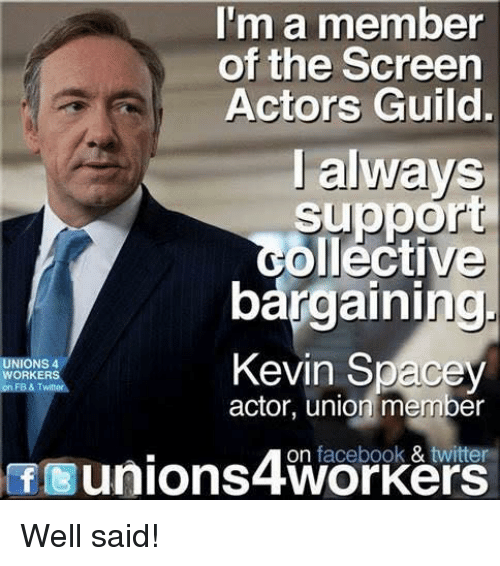 Im A Member Of The Screen Actors Guild I Always Suppo Golléctive