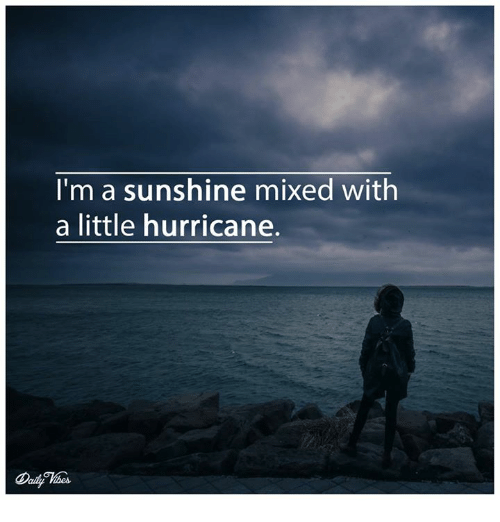 e426e50e0b709 I'm a Sunshine Mixed With a Little Hurricane | Meme on ME.ME