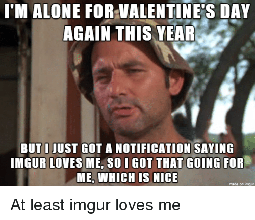 Being Alone, Valentineu0027s Day, And Imgur: IM ALONE FOR VALENTINES DAY AGAIN  THIS