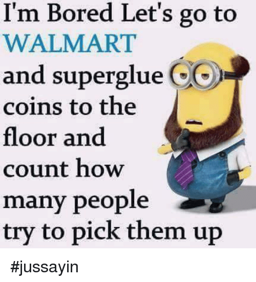 I'm Bored Let's Go to WALMART and Superglue CO Coins to ...