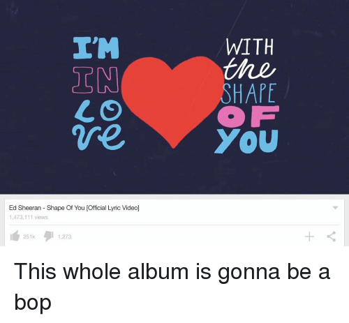I'M CO We Ed Sheeran Shape of You Official Lyric Video 1473
