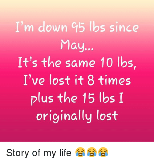 Life, Memes, and Lost: I'm down 95 lbs since It's the