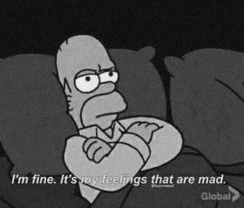 Mad, Fine, and Im Fine: I'm fine. It's my feelings that are mad  @toonmood  Globai