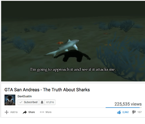 gta san andreas the truth about sharks
