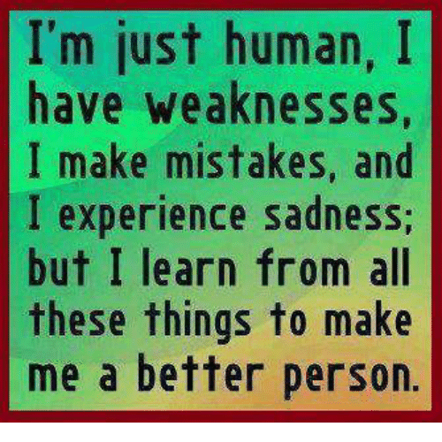 weaknesses of a person