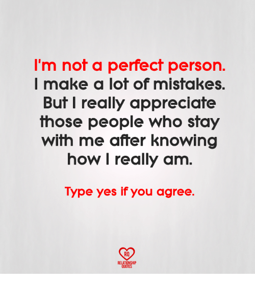 Not A Perfect Person