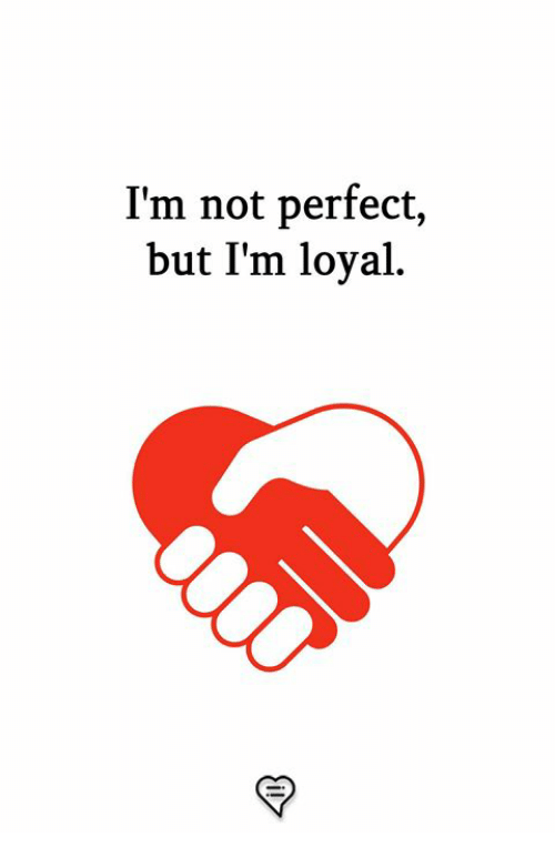 Memes, 🤖, and Perfect: I'm not perfect,  but I'm loyal
