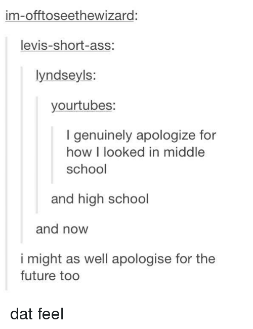 im offtoseethewizard levis short ass lyndseyls yourtubes genuinely apologize for how i 16407616 ✅ 25 best memes about dat feel dat feel memes