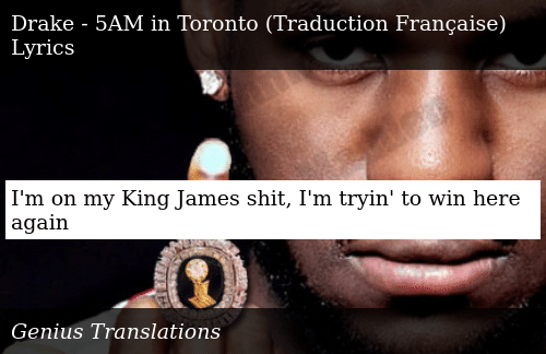 I'm on My King James Shit I'm Tryin' to Win Here Again