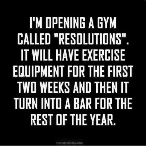 I'M OPENING a GYM CALLED RESOLUTIONS IT WILL HAVE EXERCISE