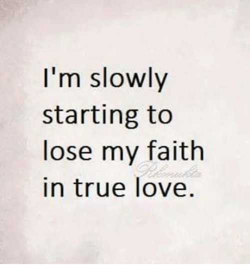 Losing My Faith