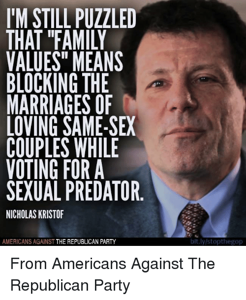 Same sex couples family values