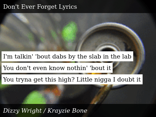 I'm Talkin' 'Bout Dabs by the Slab in the Lab You Don't Even