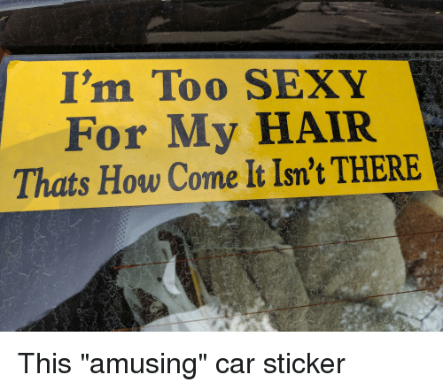 Im too sexy for my hair