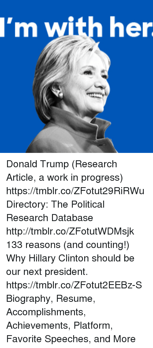 i m with her donald trump research article a work in progress