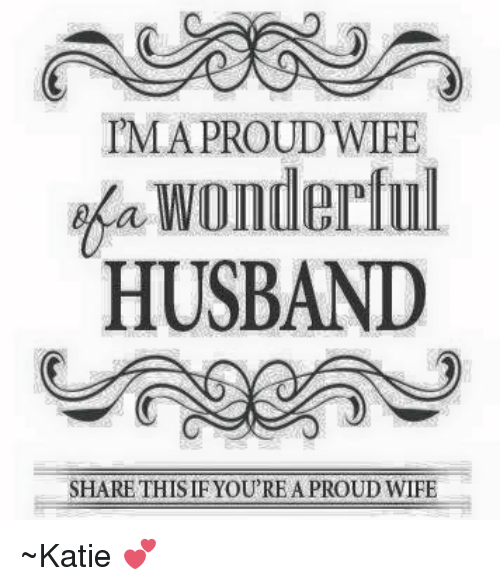 Awesome So Proud Of My Wife Quotes - Paulcong