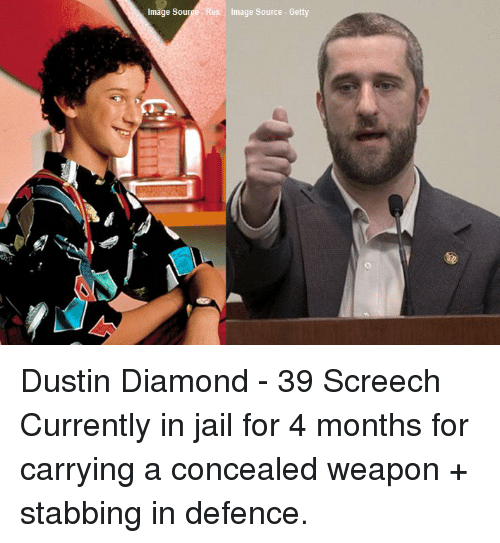 'Saved By The Bell' Actor Dustin Diamond 'Arrested For ... |Dustin Diamond Meme