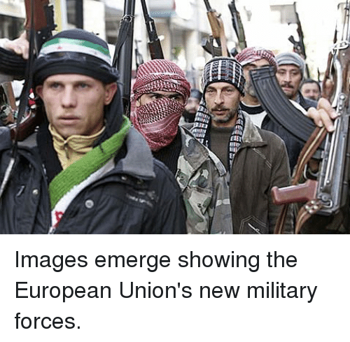 Images, Military, and New: Images emerge showing the European Union's new military forces.