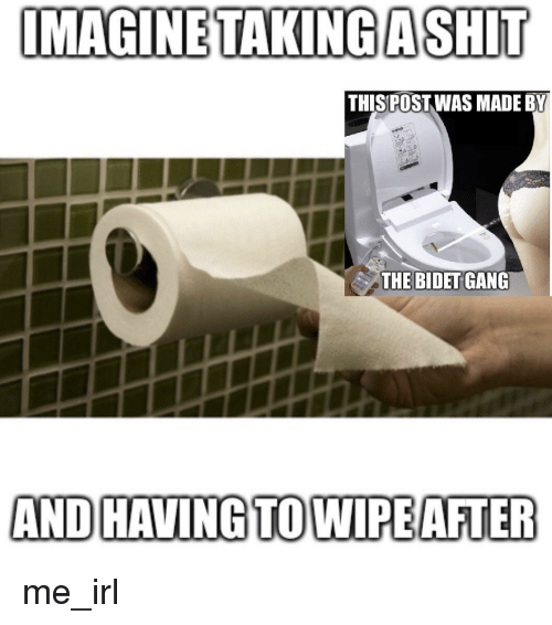 Imagine Takingashit Thisipost Was Made By The Bidet Gang And Havingtowipeater Gang Meme On Me Me