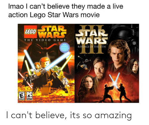 Imao I Can T Believe They Made A Live Action Lego Star Wars Movie Star Lego Wars Star The Video Game Wars Revenge Of The Sith Play E Pc Co Rom I Can T Believe