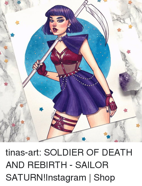 Instagram, Target, and Tumblr: imawonder tinas-art:  SOLDIER OF DEATH AND REBIRTH - SAILOR SATURN!Instagram | Shop