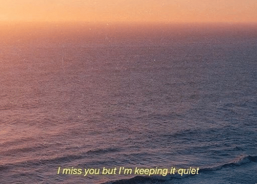 Quiet, You, and But: Imiss you but I'm keeping it quiet