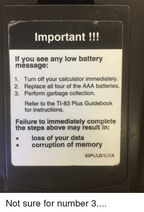 Important If You See Any Low Battery Message 1 Turn Off Your