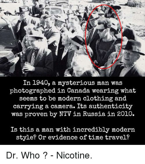 evidence of time travel