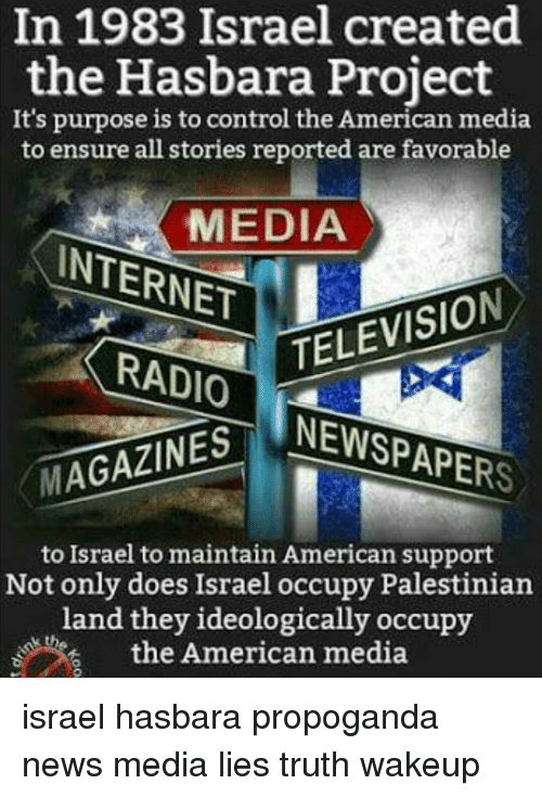In 1983 Israel Created the Hasbara Project It's Purpose Is