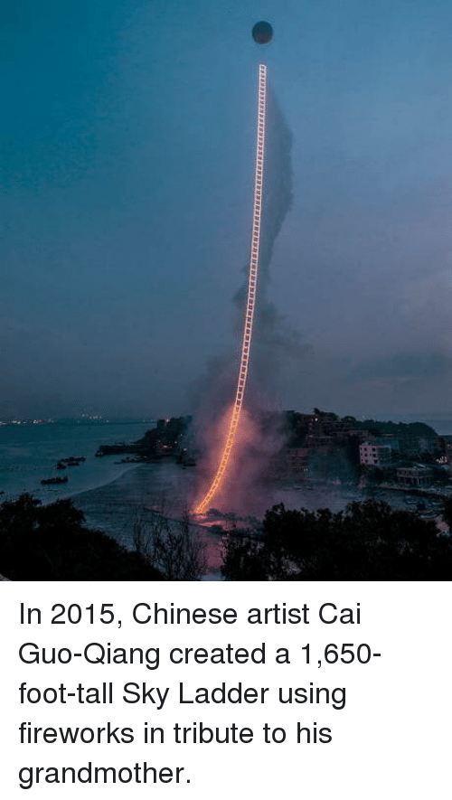 In 2015 Chinese Artist Cai Guo Qiang Created A 1650 Foot Tall Sky
