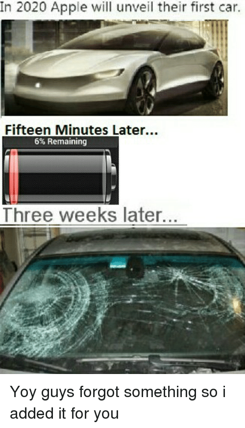 In 2020 Apple Will Unveil Their First Car Fifteen Minutes Later 6