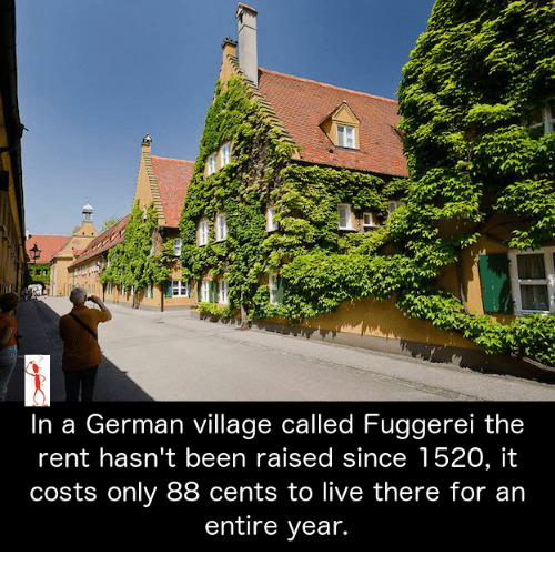 In A German Village Called Fuggerei The Rent Hasnt Been Raised