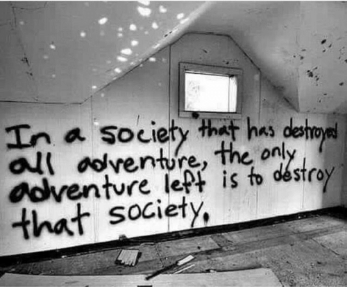 Venture, Society, and That: In a society that has deho  venture,  on  that society,