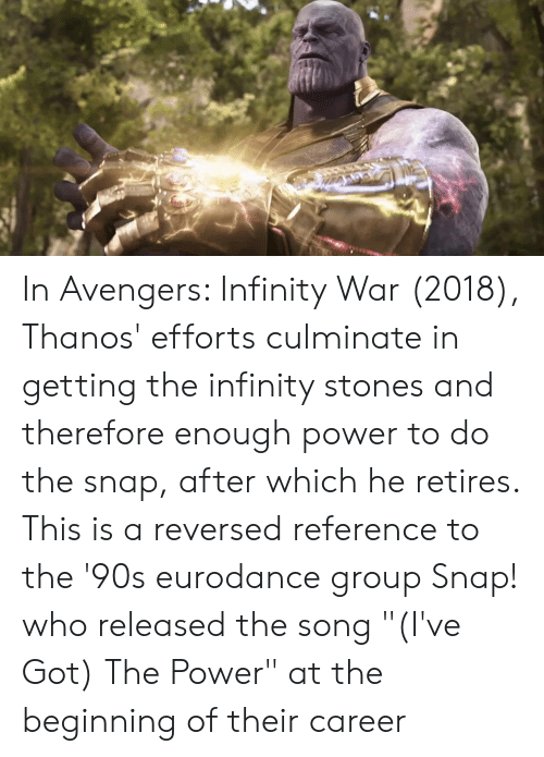 In Avengers Infinity War 2018 Thanos' Efforts Culminate in Getting